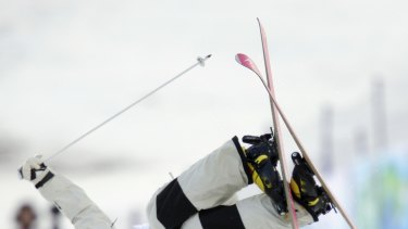 Dale Begg-Smith of Australia during his moguls qualification.