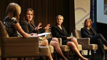 Business opportunities: Jennifer Cunich, Kelly O'Dwyer, Alison Harrop and Penny Bingham-Hall in discussion.