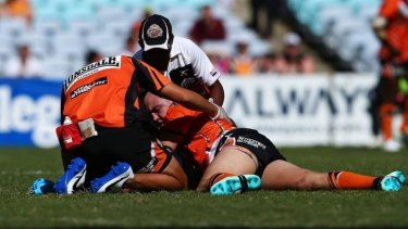 Concussed: Liam Fulton says head knocks are part of being a league player.