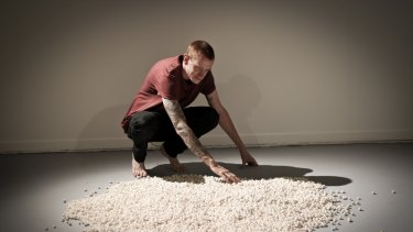 Daniel Elborne's participatory work is titled One Drop of Blood.