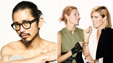 Launching pad: Designer Akira Isogawa; Sass & Bide's Heidi Middleton and Sarah-Jane Clarke.