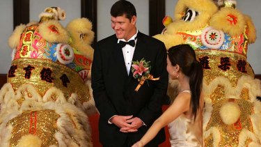 Cashing in: James Packer at the launch of the casino in Macau in 2007.