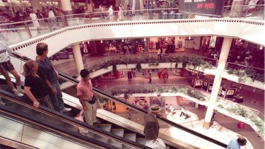 Shopping centres are getting bigger.