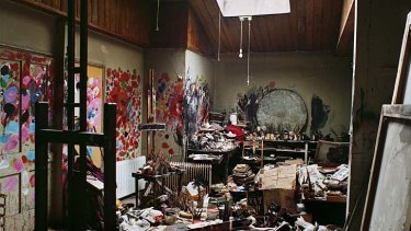 Precious ... Francis Bacon's private studio at Reece Mews, South Kensington, before it was moved and reassembled at Dublin's Hugh Lane Gallery.