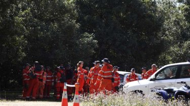 SES crews search for the remains of Daniel Morcombe in Sunshine Coast bushland.