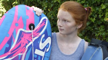 Lydia Ward .. .fought off a shark with her bodyboard.