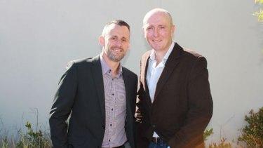 WA minister Stephen Dawson with partner Dennis Liddlelow.