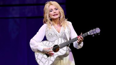 Dolly Parton performs at Melbourne's Rod Laver Arena on February 11, the first show of her <i>Blue Smoke</i> tour of Australia.