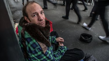 Dale McGuone has been living on the streets of Melbourne for four years.