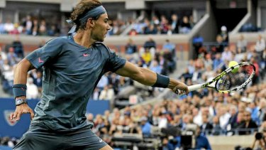 Down but not out: Rafael Nadal.