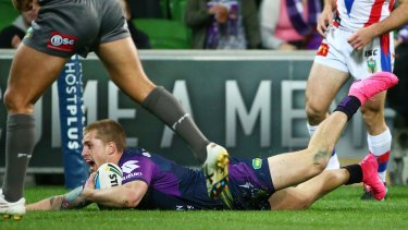 No.1: Cameron Munster is finding his feet at the back.