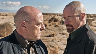 Dean Norris and Bryan Cranston in <em>Breaking Bad</em>.