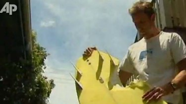 Close call ... Stephen King with his board.
