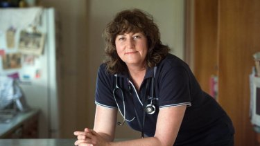 Shift work woes ... registered nurse Tracie Scott-Jensen, from Tennyson in northern Victoria, travels 2 1/2 hours to her job to avoid having to work the night shift.