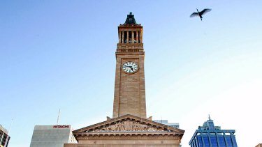 Brisbane City Hall before restoration started.