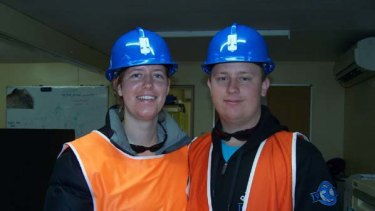 The other Australian miner feared dead, Josh Ufer, with his partner Rachelle Weaver.