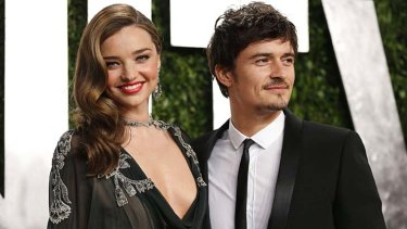 Miranda Kerr and Orlando Bloom earlier this year.
