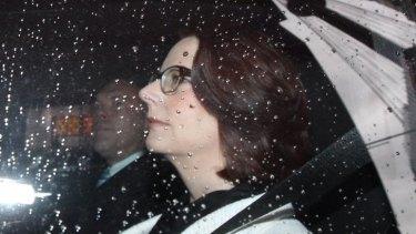Julia Gillard arrives at the royal commission in September.
