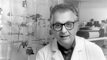 Life saver … Irving Millman also developed a test for the virus, reducing the risk of infection.