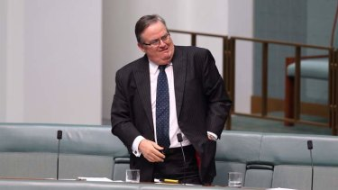 Ewen Jones during question time. Photo: Andrew Meares