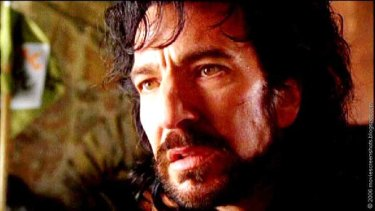 Alan Rickman as the Sheriff of Nottingham in Robin Hood: Prince of Thieves.