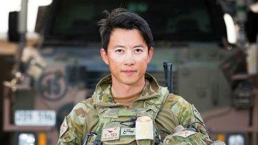 Australian Army officer Captain Yikang Feng at Taji Military Complex, Iraq.