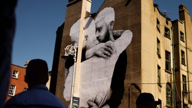 'It became about equality': A mural by artist Joe Caslin on the Mercantile building in Dublin.