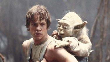 Not yet CGI, I am ... Yoda trains Luke Skywalker in The Empire Strikes Back.