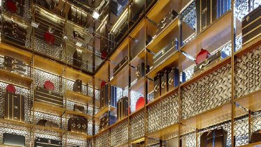 Pure luxury ... Louis Vuitton's recently renovated Bond Street store in London.