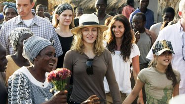 Madonna ...   in Malawi  on the adoption trail.