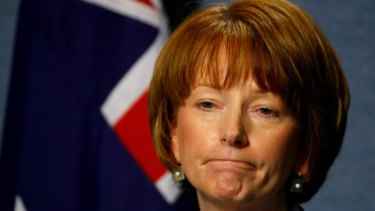 Julia Gillard employment minister, Deputy PM and worried woman.