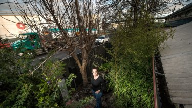 Emma Honey is one of nine residents that want Transurban to buy their homes on Hyde Street in Yarraville.