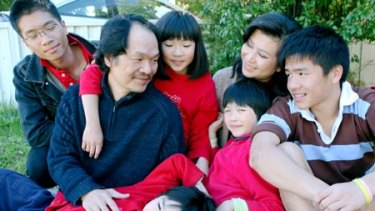 ''I wish to contribute to this wonderful society'' … Fred Pham, who raised $31,025, with his family.