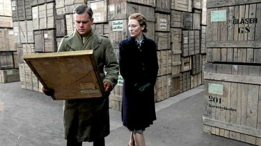 Recovering art ... Matt Damon and Cate Blanchett star in <i>The Monuments Men</i>.