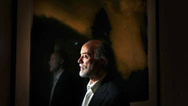 Making light: Photographer Bill Henson at the Art Gallery of NSW exhibition space.