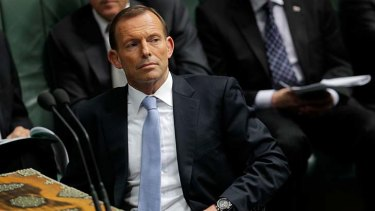 Tony Abbott insists the punch never happened.
