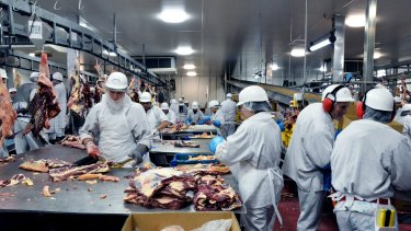 Bindaree Beef exports burger-sized cuts to Chinese retailers.