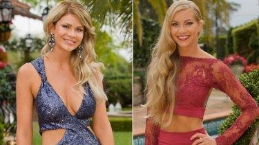 The Bachelor Australia 2016 contestants: Megan Marx (left) and Tiffany Scanlon.