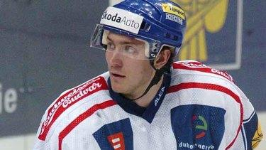 Killed ... Czech national ice hockey team player Karel Rachunek.