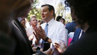 US Republican presidential candidate Senator Ted Cruz.