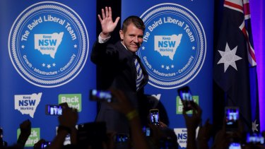 """To the victor go the spoils. Mike """"Big Spender"""" Baird looking chipper on election night."""