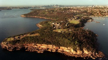 Proposal: The aerial view of Middle Head surrounded by national park.