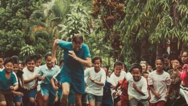 Tom Hickman is running to raise funds for childrens' education in Bali.