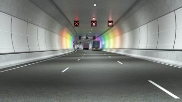 An artist's impression of the West Gate Tunnel. Image supplied.