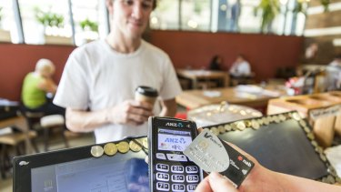 "Cash on the nose as Australians spend an estimated $2 billion a week on contactless or ""tap and go"" payments."