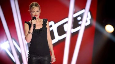 No regrets just a bruised ego ... Abby Dobson auditioning on The Voice.
