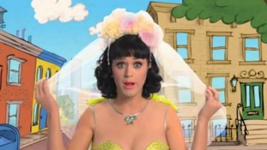 Joke of the year ... Katy Perry's Elmo breast ban.