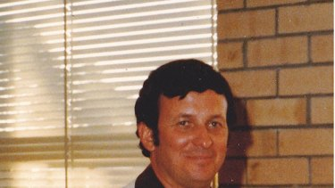 Dennis McKenna on the day he was awarded Citizen of the Year in Katanning in January, 1984.