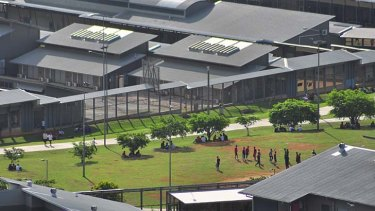 Christmas Island: Number of asylum seekers held at detention centres has fallen.