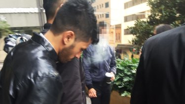 Bibek Guragain outside court on Tuesday.